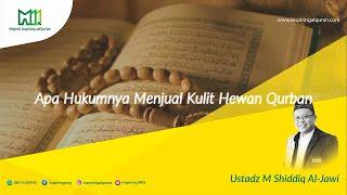 Hukum Menjual Kulit Hewan Qurban